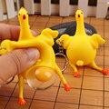 2017 novedad nuevo traviesa divertida juguete juguete de gallina de pollo y huevo colocado lleno pelota anti-estrés llavero llavero