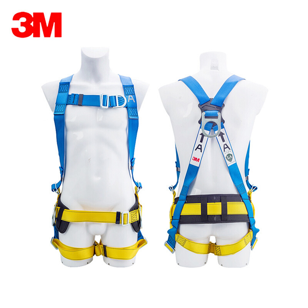 3M 1318020 Safety Harness Full Body Personal Fall Protection Dorsal Ring Side D-Rings & Pass Through Buckle Straps Construction(China)
