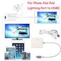 Conector Rayo 8 Pin al Adaptador de HDMI Cable HDTV AV Digital para apple iphone 5 6 6 s 7 7 plus ipad 1080 p