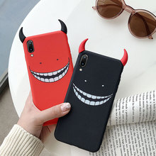 Cool Cartoon Devil Horns Phone Case for iPhone X XS Max XR Soft Silicone Cover for iphone 7 6 S 6S 8 Plus Funny Cases Capa Coque цена и фото
