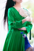 Линетт CHINOISERIE лето осень оригинальный дизайн женские свободные высокое качество шелковые платья