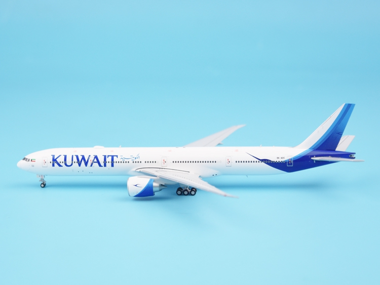 JC Wing 1:400 LH4034 Kuwait Airways B777-300ER 9K-AOC Alloy aircraft model Collection model Holiday gift 1 pair lh