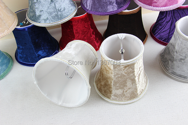 Flannel Purple Red Blue White Trendy Lamp Shades Styles Candle Bulb Wall Chandelier Mini Shade Clip On In Covers From