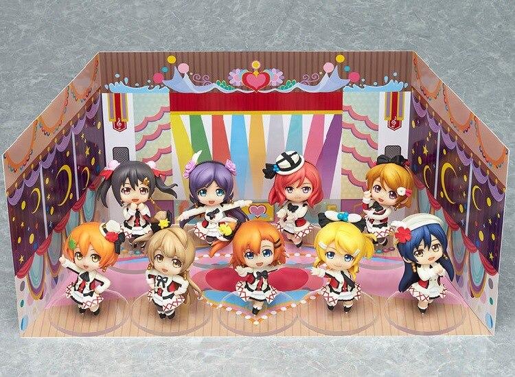 ФОТО Anime Love Live! School Idol Project 9pcs/set Honoka Kotori Umi Eli Nozomi Maki Rin Hanayo Nico Doll PVC Action Figures Toys