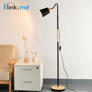 Floor-Lamp Iron-Decor Reading-Lighting Living-Room Modern Loft Bedroom Minimalist E27