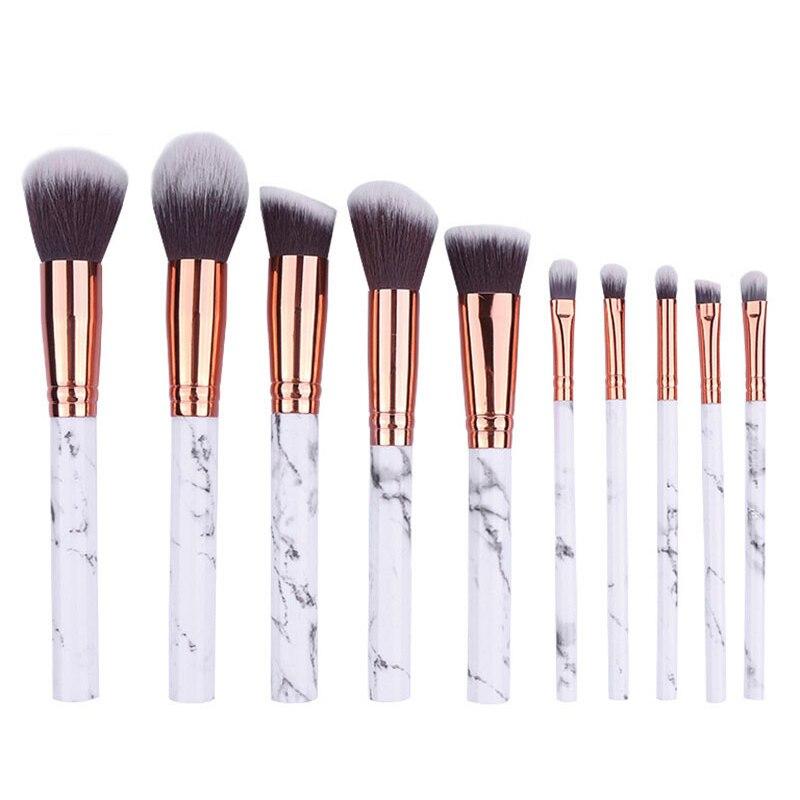ELECOOL 1/10PCS Marble Makeup Brushes Extremely Soft Makeup Brush Set Foundation Powder Brush Beauty Texture Make Up Tools