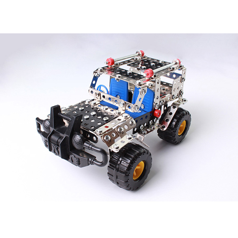 Us Army Action Toys Figures Metal Building Bricks Blocks Military Fast & Furious Cars Construction Cross Country Vehicle Toys ksb metal construction toys metal model assembly puzzle building block set construction vehicle