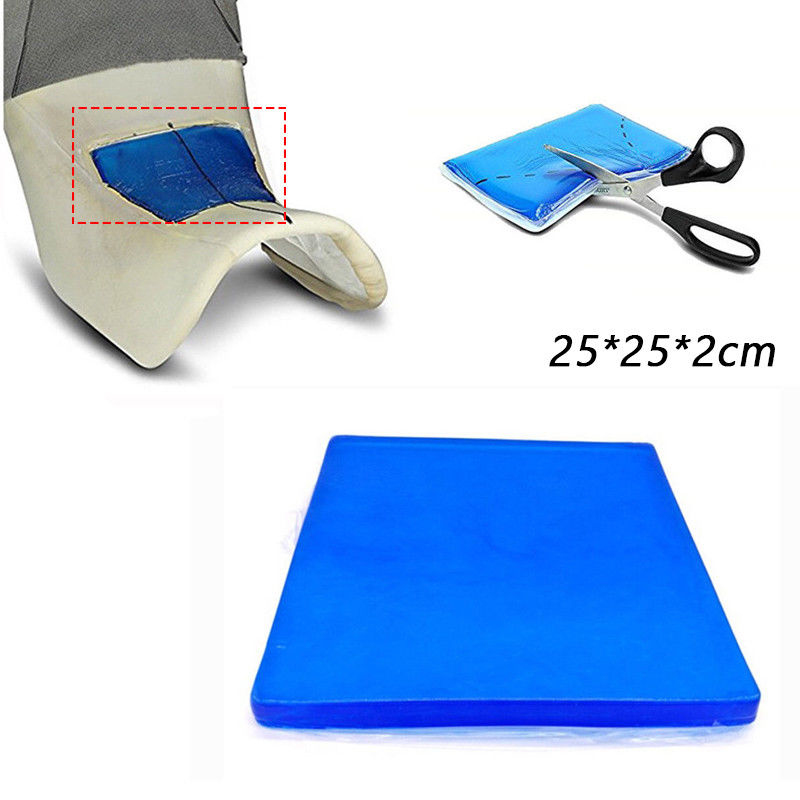 Coussin confortable de coussin d'absorption de choc de coussin de Gel de siège de moto d'ajustement de 25*25*2 cm