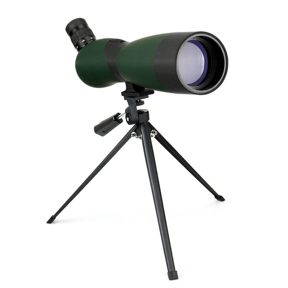 LAIDA 70mm Lunette Optique 25x-75x Zoom Télescope Réfracteur Oiseaux Chasse Angle w/Trépied Étui Souple M0086B