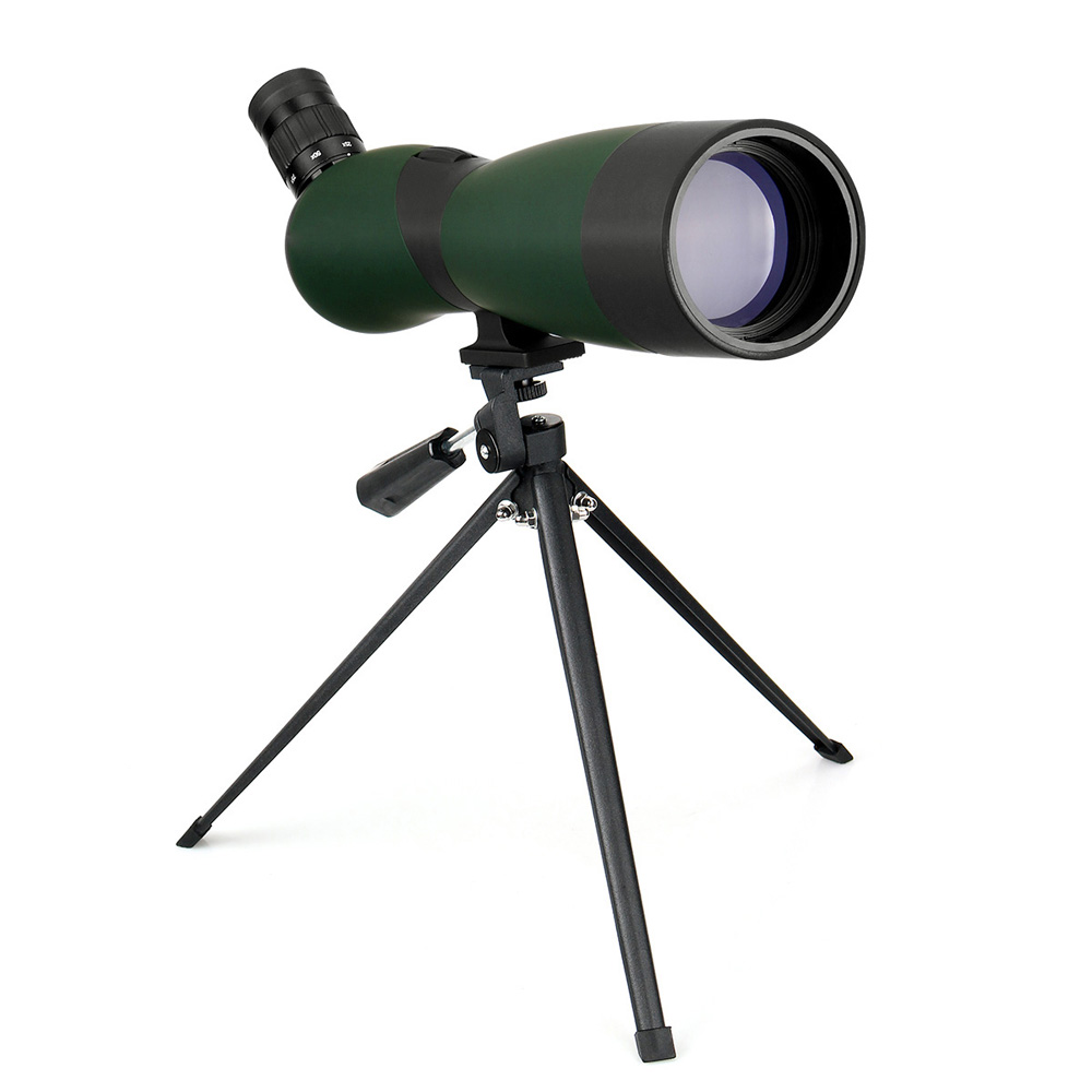 LAIDA 70mm Spotting Scope Optique 25x-75x Zoom Télescope Lunette Observation Des Oiseaux de Chasse Angle de vision w/Trépied Étui Souple M0086B