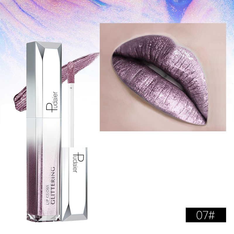Pudaier 25 צבעים גלוס שפתיים גוון קוסמטיקה שפתון ליפ גלוס פיגמנט סקסי שפתיים ערכת מט נוזל שפתון עירום איפור TSLM2