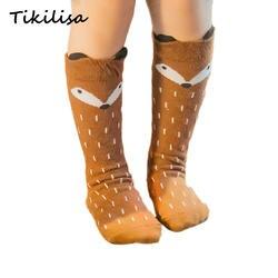 Милые детские хлопковые носки с рисунком медведя, хлопковые носки для малышей, гольфы, длинные гетры, милые носки, детские носки для