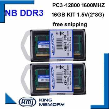 KEMBONA free shipping best price sodimm notebook ram laptop DDR3 16GB(kit of 2pcs laptop ddr3 8gb) PC3-12800 204pin ram memory