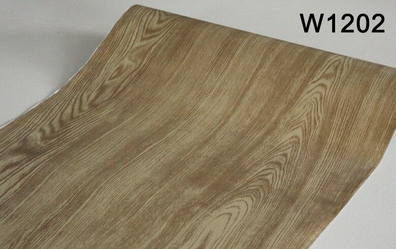 Купить с кэшбэком Kitchen Chinese style stereo wood grain wallpaper Vinyl Nature Brown Grey Brick Wall Paper Roll Bedroom Walls Covering
