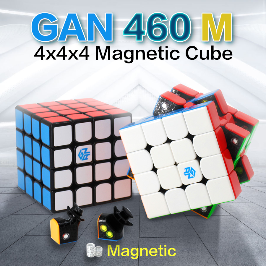 GAN 460 M Magnetic Magic Cube 4x4x4 460M Neo Cubo Magico 4x4 4 By 4 Speed Cube Puzzles Toys For Children Anti-stress 4*4