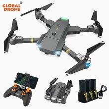 글로벌 드론 Selfie 전화 제어 RC 드론 전문 헬리콥터 와이파이 Quadcopter Foldable 드론 카메라 HD 대 xs809hw E58