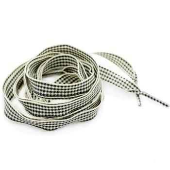 1pair Silk Ribbon Grid Scottish Flat Canvas Athletic Shoelace Sport Shoe Laces Strings 110cm Shoelaces