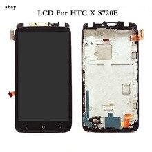 4.7 ل HTC واحد X S720e LCD الاستشعار اللمس S720e شاشة محول الأرقام الجمعية كاملة ل HTC S720e عرض أسود مع/لا الإطار