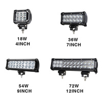 RACBOX Slideable Mounting Style 18W 36W 72W 4 7 12 Inch Offroad LED Light Bar Work