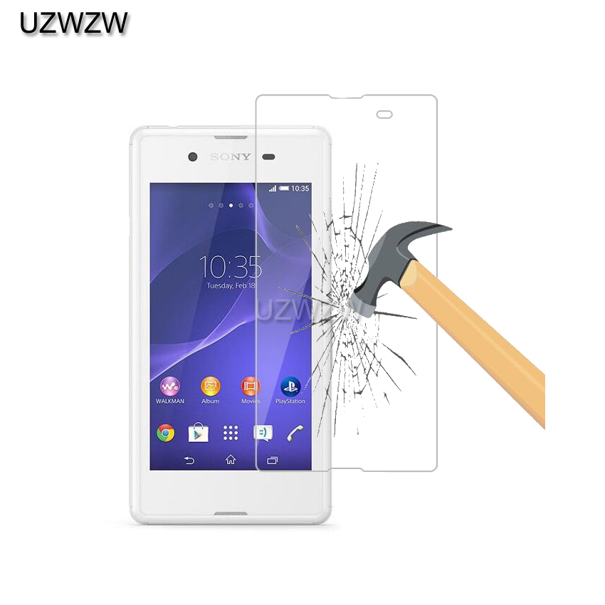 2pcs Tempered Glass For <font><b>Sony</b></font> <font><b>Xperia</b></font> <font><b>E3</b></font> D2203 D2206 D2243 <font><b>D2202</b></font> Screen Protector Film Glass For <font><b>Sony</b></font> <font><b>Xperia</b></font> <font><b>E3</b></font> Dual Glass image