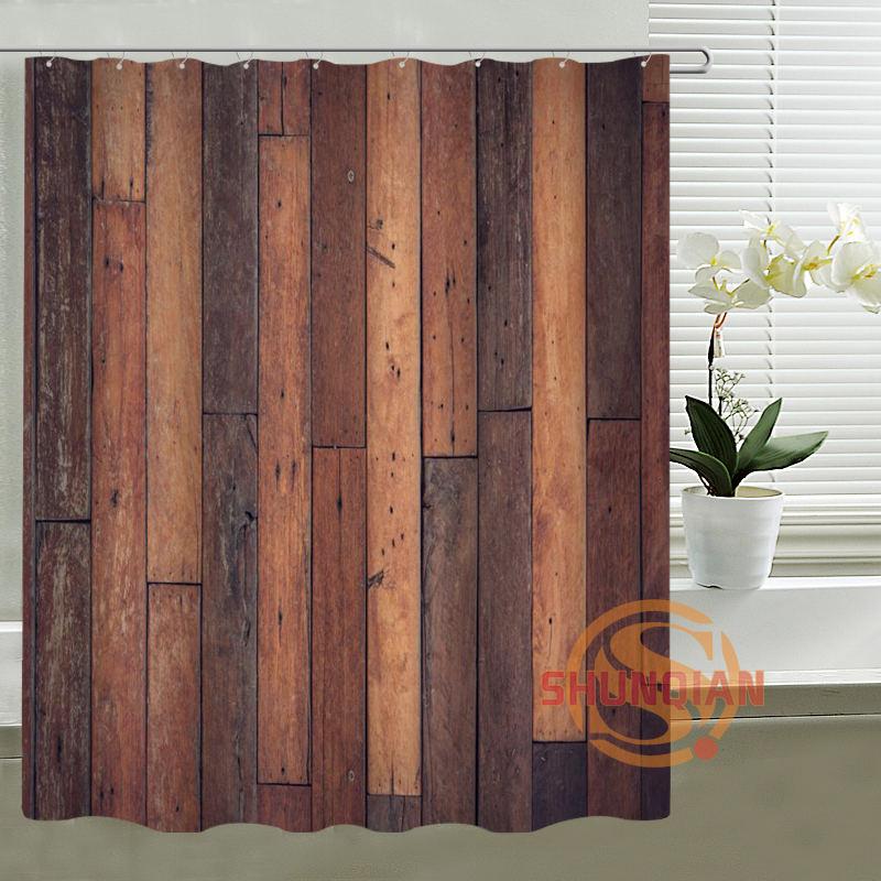 rustic old barn wood custom shower curtain waterproof fabric bath curtain for