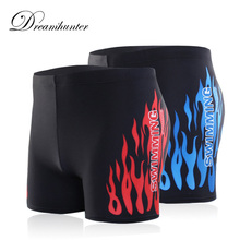 Men Swimwear Swimming-Shorts Brief Trunks Bathing-Suit Plus-Size Male 4XL Quick-Drying