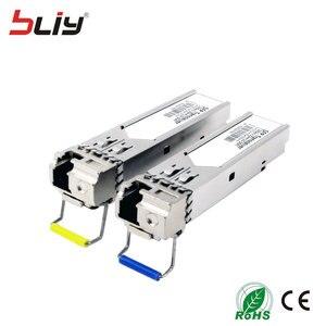 Image 2 - Bliy Módulo SFP de fibra simple conector SM 5km LC 1,25 BASE 1310nm/1550nm WDM DDM BiDi transceptor mikrotik gbic, 5 pares