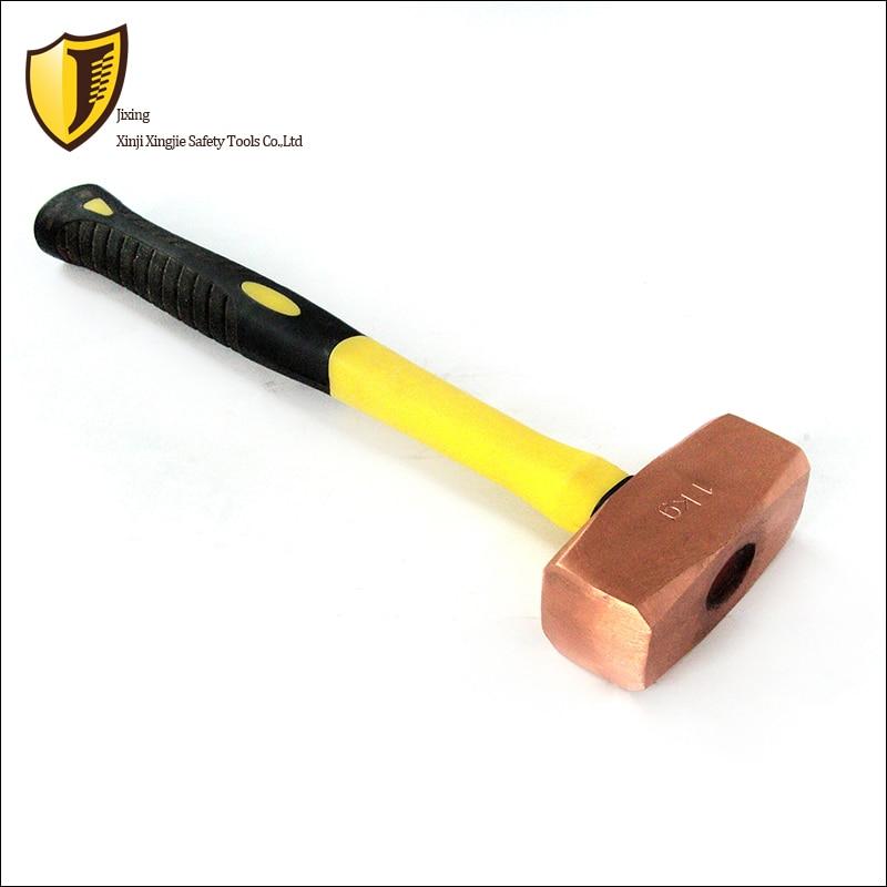 1 Kg, Rot Kupfer Deutsch Achteckigen Hammer, Explosion-proof Hammer Schnelle Farbe