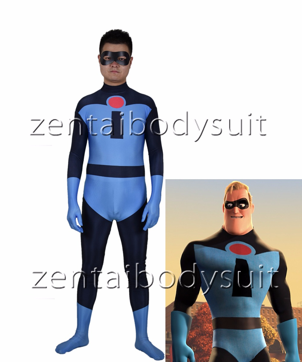 The Incredibles Mr Incredible Cosplay costume Superhero Bodysuit 3D Printting Skin Zentai Halloween Party suit|Movie & TV costumes| |  - title=
