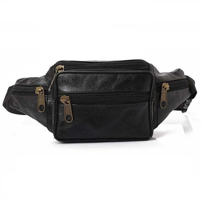 Outnice Brand Vintage Genuine Leather Waist Bag Women Men Fanny Pack Retro Bum Pouch Leisure Crossbody Messenger Bags Celular