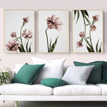 Modern Tulip Flower Prints Wall Art Canvas Paintings Floral Poster Scandinavia Pictures for Living Room Bedroom Home Decorative(China)