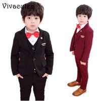 New Child Suits Blazer Pants Vest 3pcs Set Kids Clothing Set Boys Formal Suit Sets Wedding Flower Boy Weddings Kids Prom F034