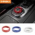 SHINEKA Aluminium Legierung 4WD Vier Rad Stick Schalter Taste Dekoration Ring Abdeckung Trim für Nissan Patrol Y62 2017 +