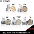 MUMENG LED GU10 Spotlight Bulb 3W 4W 6W 7W  Dimmable Spotlight AC220 AC85-265V Warm White/White Lighting Aluminum Lamp Bulb