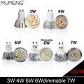 Mumeng gu10 levou holofotes lâmpada 3 w 4 w 6 w 7 w ac220 regulável spotlight ac85-265v branco quente/branco lâmpada de iluminação de alumínio da lâmpada