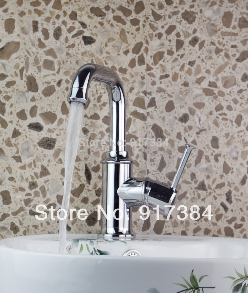 Deck Mounted Polished Chrome Finish Kitchen Bathroom Basin Sink Mixer Tap Faucet JN92322