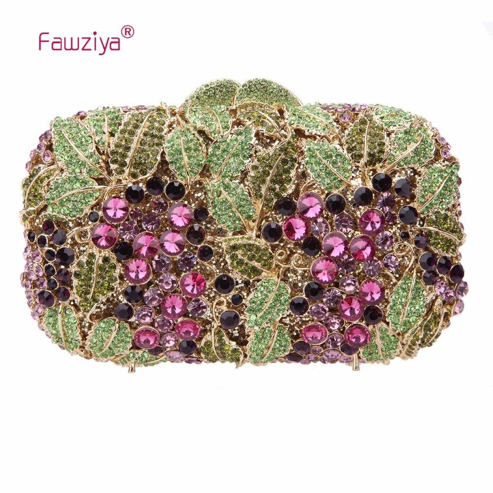 Fawziya Fringe Bag Luxury Rhinestone Grape Purses And Handbags For Womens Clutch Purse fawziya womens handbags and purses man made cat s eye sunflower clutch bag for women purse