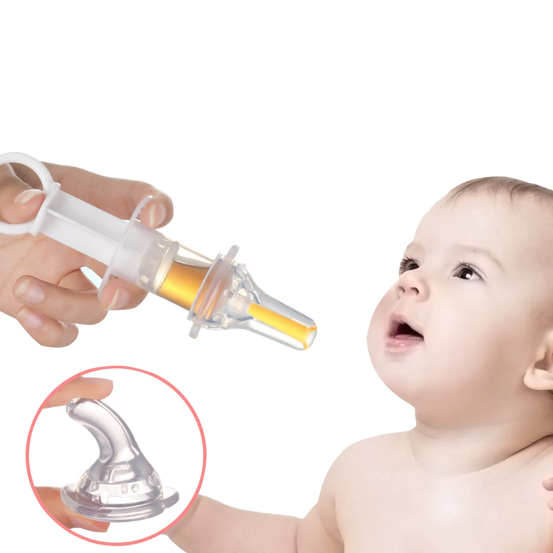 1Pcs Baby Liquid Feeding Care Silicone Syringe Dropper Needle Spoon Style Healthcare Kits Infant infantil <font><b>Given</b></font> Medicines Device image