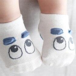 Удобная детская одежда Лидер продаж, весенне-летние носки для малышей хлопковые нескользящие носки с милыми рисунками для новорожденных ма...