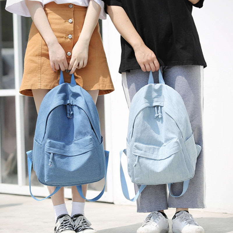 Backpack for Girls,Denim Fashion College Student School Bag Rucksack Travel Mini Backpack for Women