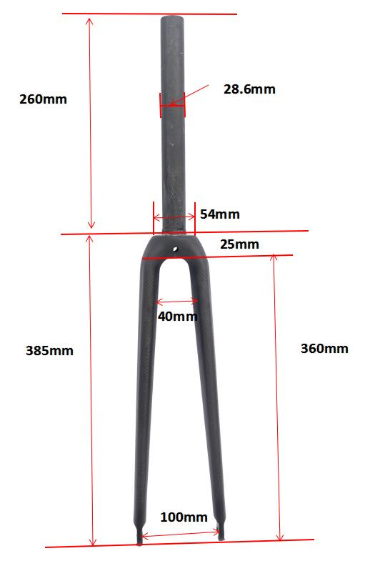 no logo 3K carbon fiber road bike fork/carbon fibre forks/carbon fork road bike forks 28.6 mm 360g