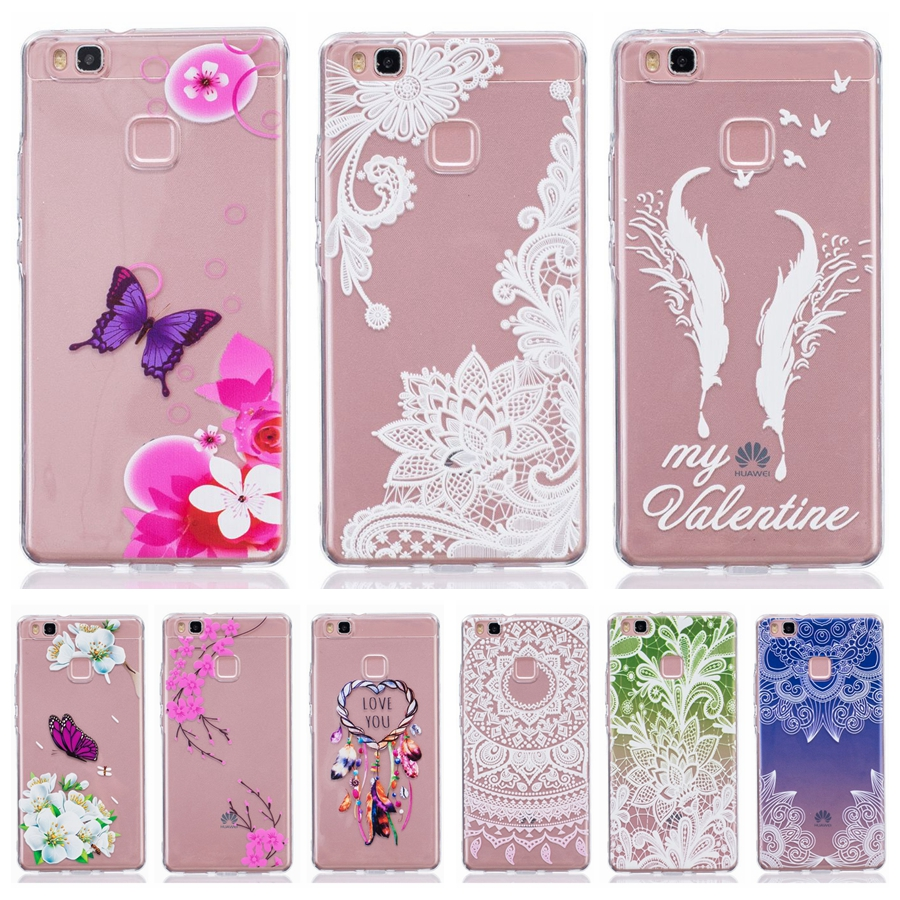 c9d15ff0bb8 Soft TPU Silicone case 5.2For Fundas Huawei Ascend P9 Lite Case For Huawei  P9 Lite Cover P9Lite Printed Clear Mobile Phone Case
