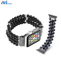 Cover For Apple Watch 38 42 40 42 mm Women Case Band Strap Ladies Fashion Luxury Agate Hematite Bracelet Wrist For iwatch