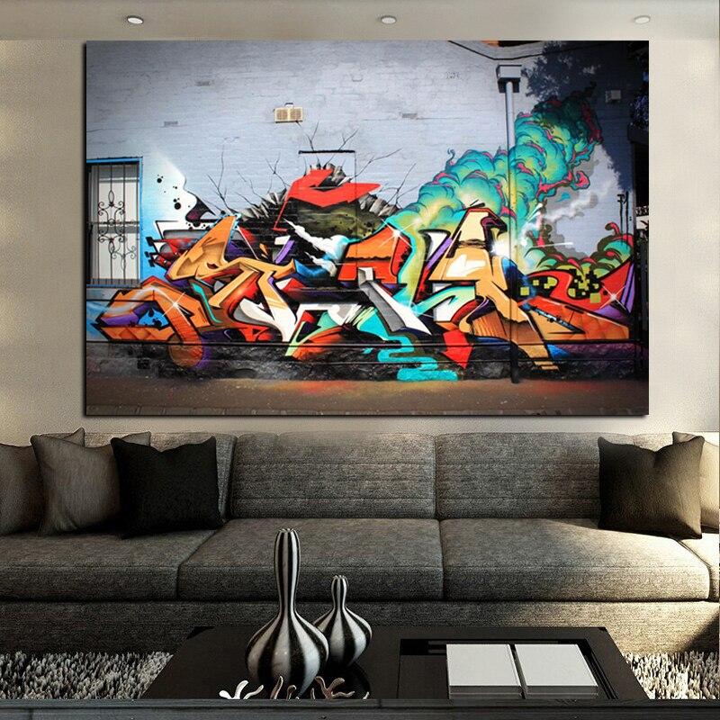 HD-tryck Street Art Volcanic Explosion Graffiti Abstrakt Pop Art - Heminredning - Foto 2