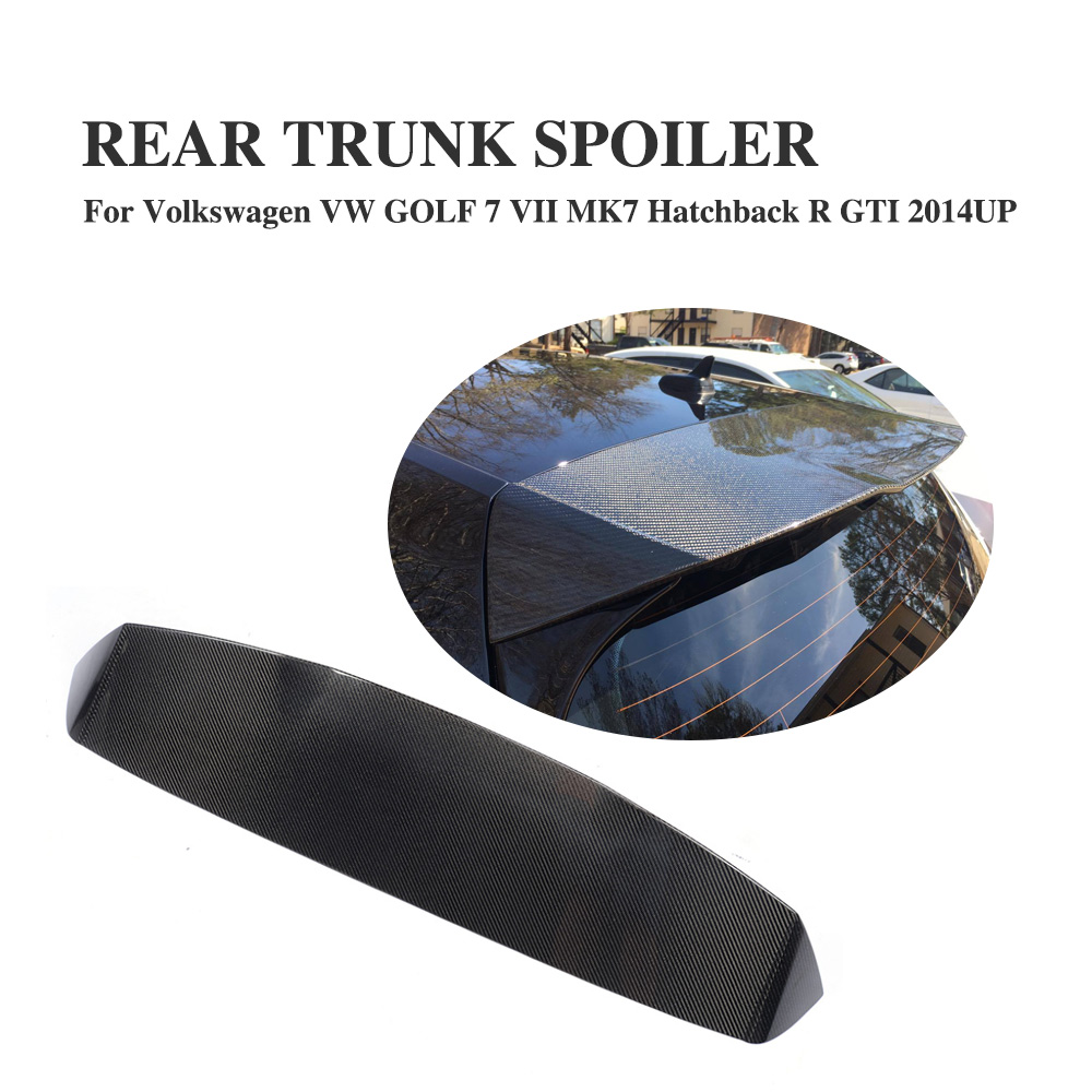 Carbon Fiber Rear Trunk Roof Spoiler for Volkswagen VW GOLF 7 VII MK7 GTI 2014-2017 A Style Car Window Wing цены
