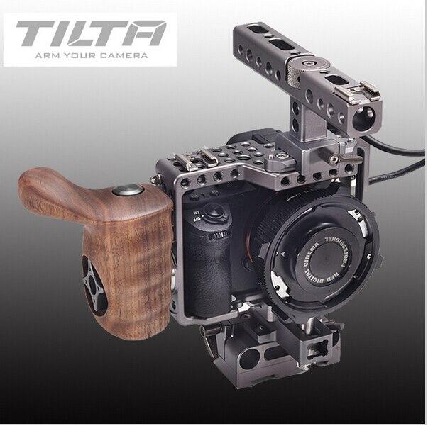 Tilta ES-T17A A7 appareil photo dslr plate-forme A7S A7S2 A7R A7R2 Cage de montage + plaque de base + manche en bois pour SONY A7 TILTA ES-T17-A