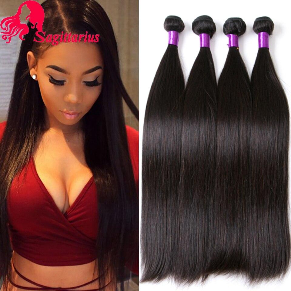 Hair Weaving: Indian Virgin Hair Straight 4 Pcs 7A Unprocessed Indian Straight Virgin Hair Bundles Deal Cheap Virgin Human Hair Weave Bundles