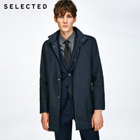 SELECTED Slade, simple collar, simple man business casual long coat S|417321526