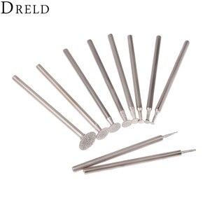 Image 5 - DRELD 10Pcs Dremel Accesories 2.35mm Shank Diamond Mounted Point Grinding Head Stone Jade Carving Polishing Engraving Tools