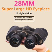 28mm super grande ocular hd telescópio de viagem ao ar livre caça militar metal binocular lll visão noturna russian spotting scope